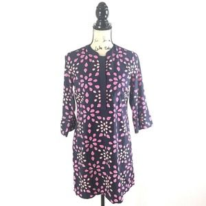 Crown & Ivy 4P Dress Navy Blue Pink Lady Bug